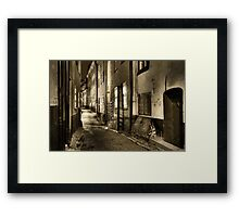 Old Town in sepia. Framed Print