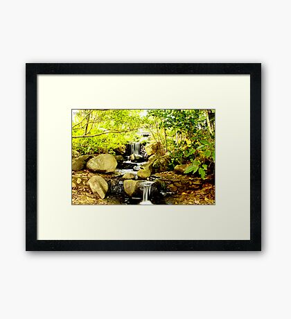 A water trickle Framed Print