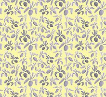 Sumi Ink Orchids Pattern by Zoe Monnier