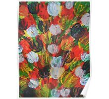 Explosion of Tulips Poster