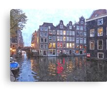 Canal Houses in Amsterdam, Holland Canvas Print