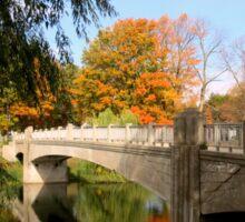 Autumn In Lincoln Park Sticker