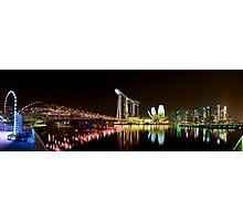 Singapore Marina Bay Panoramic Photographic Print