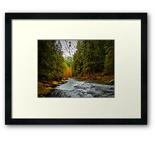 And The Light Came Through Framed Print