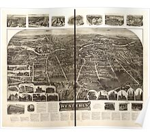 Panoramic Maps Aero view of Westerly Rhode Island 1911 Poster