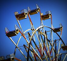 Blue sky day at the county fair by Robin Simmons