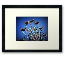 Blue sky day at the county fair Framed Print