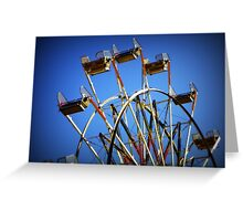 Blue sky day at the county fair Greeting Card