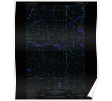 USGS Topo Map Indiana ID Setters 238075 1980 24000 Inverted Poster
