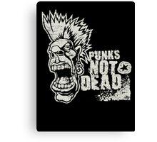 Punk is not dead Canvas Print