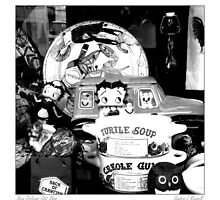 French Quarter Souvenir Shop Window by Sandra Russell