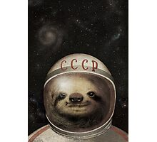 Cosmonaut Sloth Photographic Print