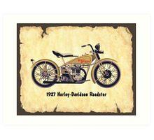 Harley Davidson Roadster Art Print