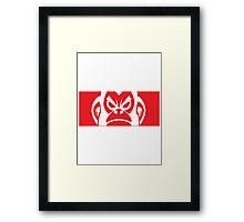 RED MONKEY Framed Print