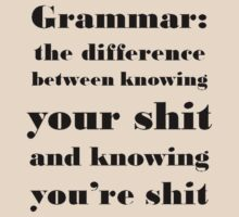 Grammar: The Difference Between Your and You're T-Shirt