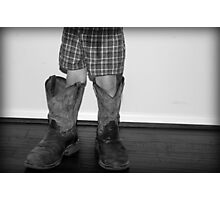 In daddy's shoes... Photographic Print