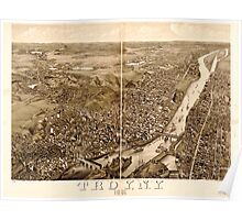 Panoramic Maps Troy NY 1881 Poster