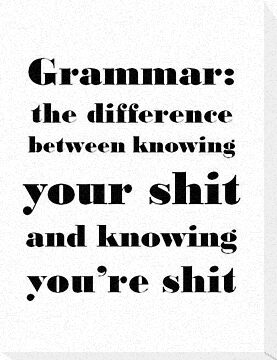 Grammar: The Difference Between Your and You're by taiche