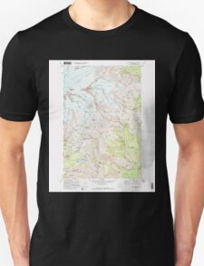USGS Topo Map Washington State WA Mt Rainier East 242653 1971 24000 Unisex T-Shirt