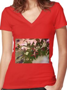 Hangin' on to the end Women's Fitted V-Neck T-Shirt