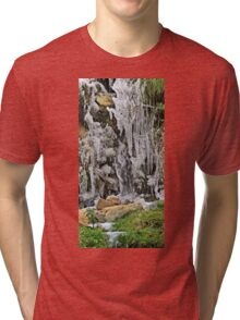 Spain, The Pyrenees Mountains ice droplets on a tree Tri-blend T-Shirt
