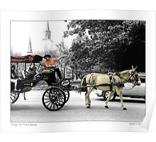 French Quarter Buggy Ride Poster