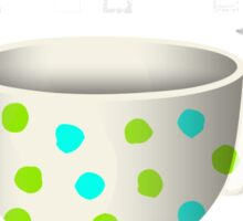 The Empty Cup of Care Sticker