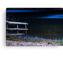 Submerged Fence. Canvas Print