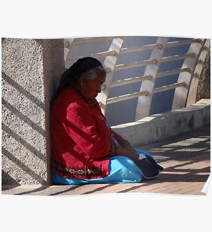 Old Lady At The Bridge - Señora Vieja En El Puente Poster