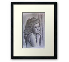 Portrait of Friend's Daughter Framed Print