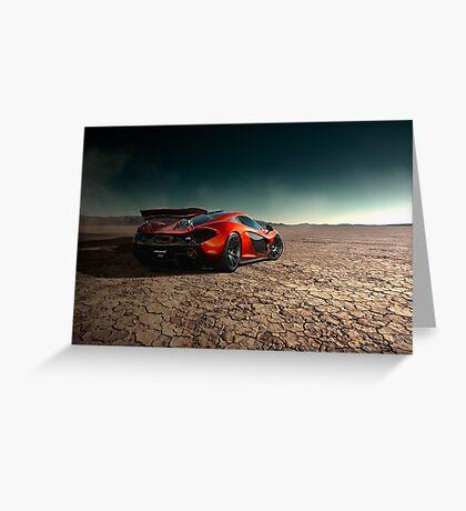 McLaren P1 | Black Rock Greeting Card