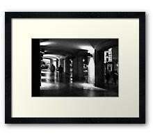 Arcade Barcelona. Framed Print