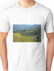 China, Guilin landscape with Ping An Rice Terraces Unisex T-Shirt