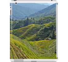 China, Guilin landscape with Ping An Rice Terraces iPad Case/Skin