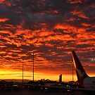 Sunrise at Sydney Airport by Miles Moody