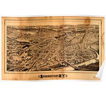 Panoramic Maps Schenectady NY Poster