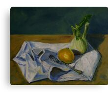 still life with fennel Canvas Print