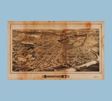 Panoramic Maps Schenectady NY Kids Tee