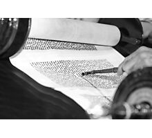 Reading the Torah scrolls  Photographic Print