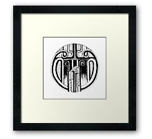 Black and white Pen pattern drawing2 Framed Print