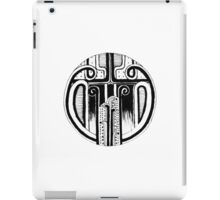 Black and white Pen pattern drawing2 iPad Case/Skin