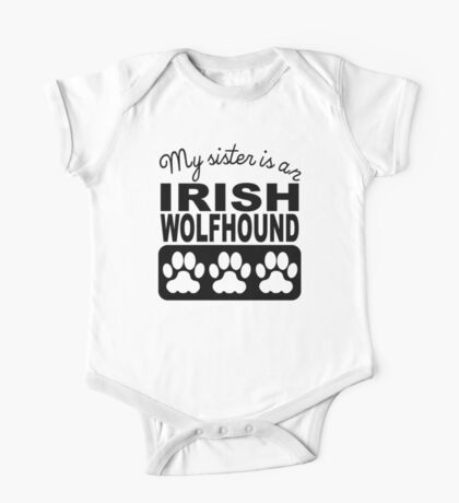 My Sister Is An Irish Wolfhound One Piece - Short Sleeve