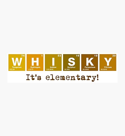 Whisky - It's Elementary! Photographic Print