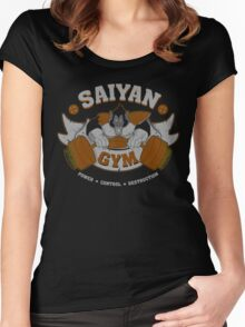 Saiyan gym 2.0 Women's Fitted Scoop T-Shirt