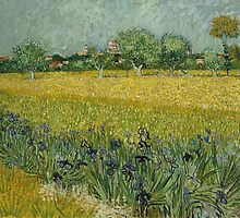 View of Arles with Irises by Vincent van Gogh by Robert Partridge