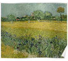 View of Arles with Irises by Vincent van Gogh Poster