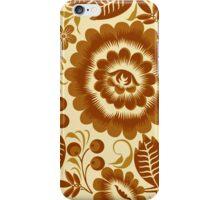 Brown Khokhloma iPhone Case/Skin