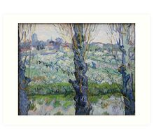 View of Arles, Flowering Orchards by Vincent van Gogh Art Print