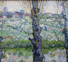 View of Arles, Flowering Orchards by Vincent van Gogh by Robert Partridge