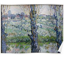View of Arles, Flowering Orchards by Vincent van Gogh Poster